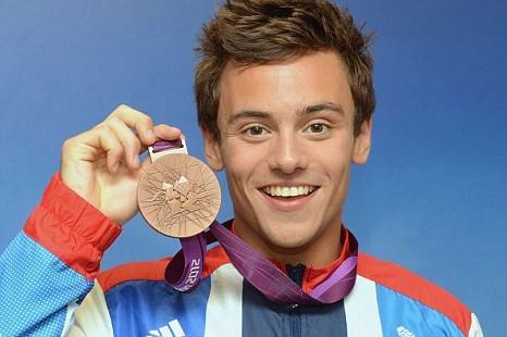 Tom Daley com a medalha de bronze de Londres/PA
