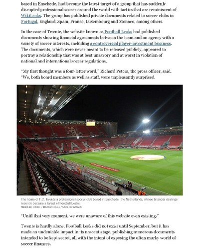 Mysterious Website Aims to Shed Light on Soccer De