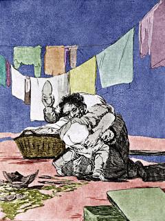 Grabado de Francisco de Goya se quebro el cantaro.