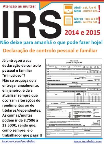 Declaração de controlo de titulares rendimentos