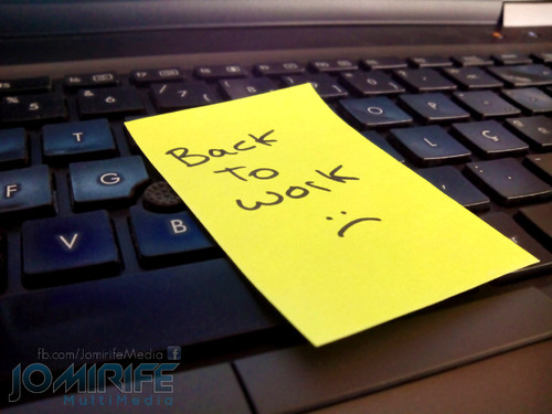 Post-it De volta ao trabalho no computador | Post-it Back to work on the computer