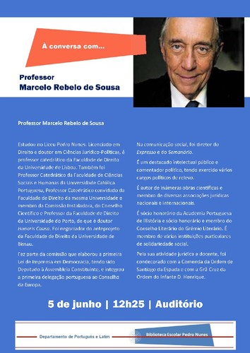 Cartaz  Professor Marcelo Rebelo de Sousa  - 5 jun