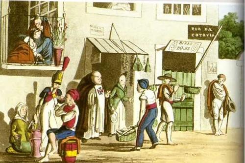 23 APDG, cena de rua, sketches of portuguese life,