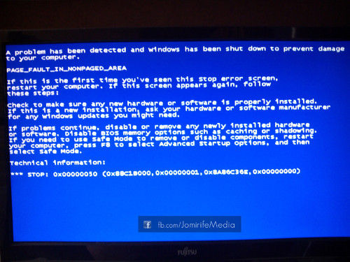 Bluescreen PAGE_FAULT_IN_NONPAGED_AREA no Sistema Operativo Windows