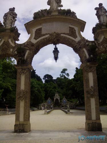 Entrada do Jardim da Sereia - Parque de Santa Cruz na Praça da República em Coimbra [en] Entrance of the Mermaid Garden - Santa Cruz Park at the Republic Square in Coimbra Portugal