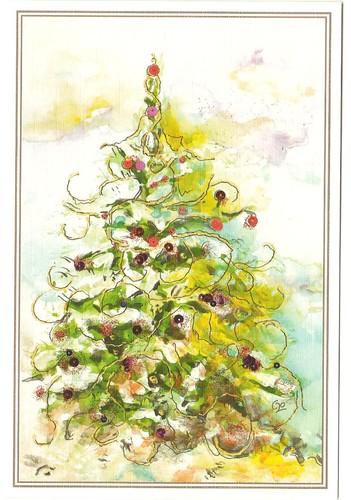 Digitalização árvore natal 2. P1409, original pintado com o pé por Maria Goret Chagas