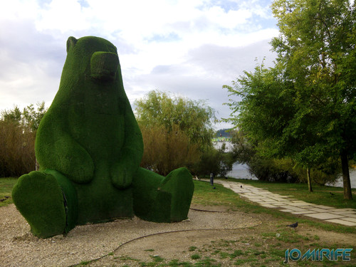 Grande urso de relva no parque verde do Mondego de Coimbra [en] Big grass Bear in the Mondego Green Park in Coimbra Portugal