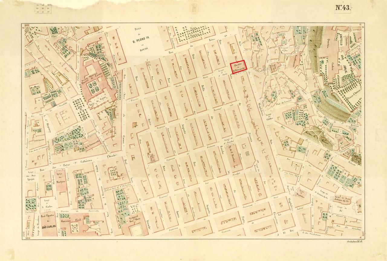 Atlas da carta topográfica de Lisboa, n 43, Filip