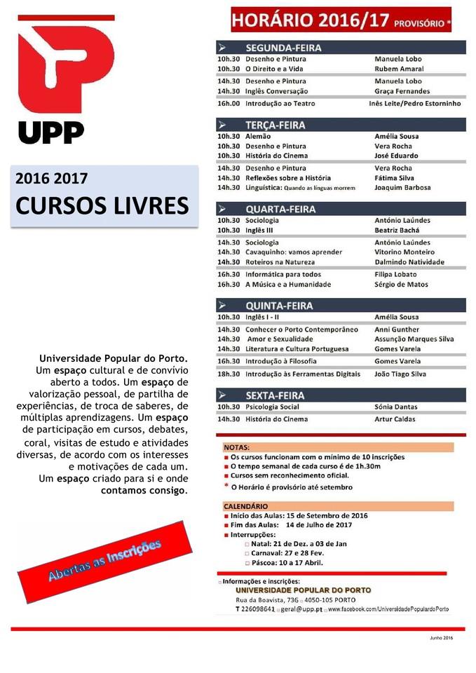 UPP Dia Horário Prov