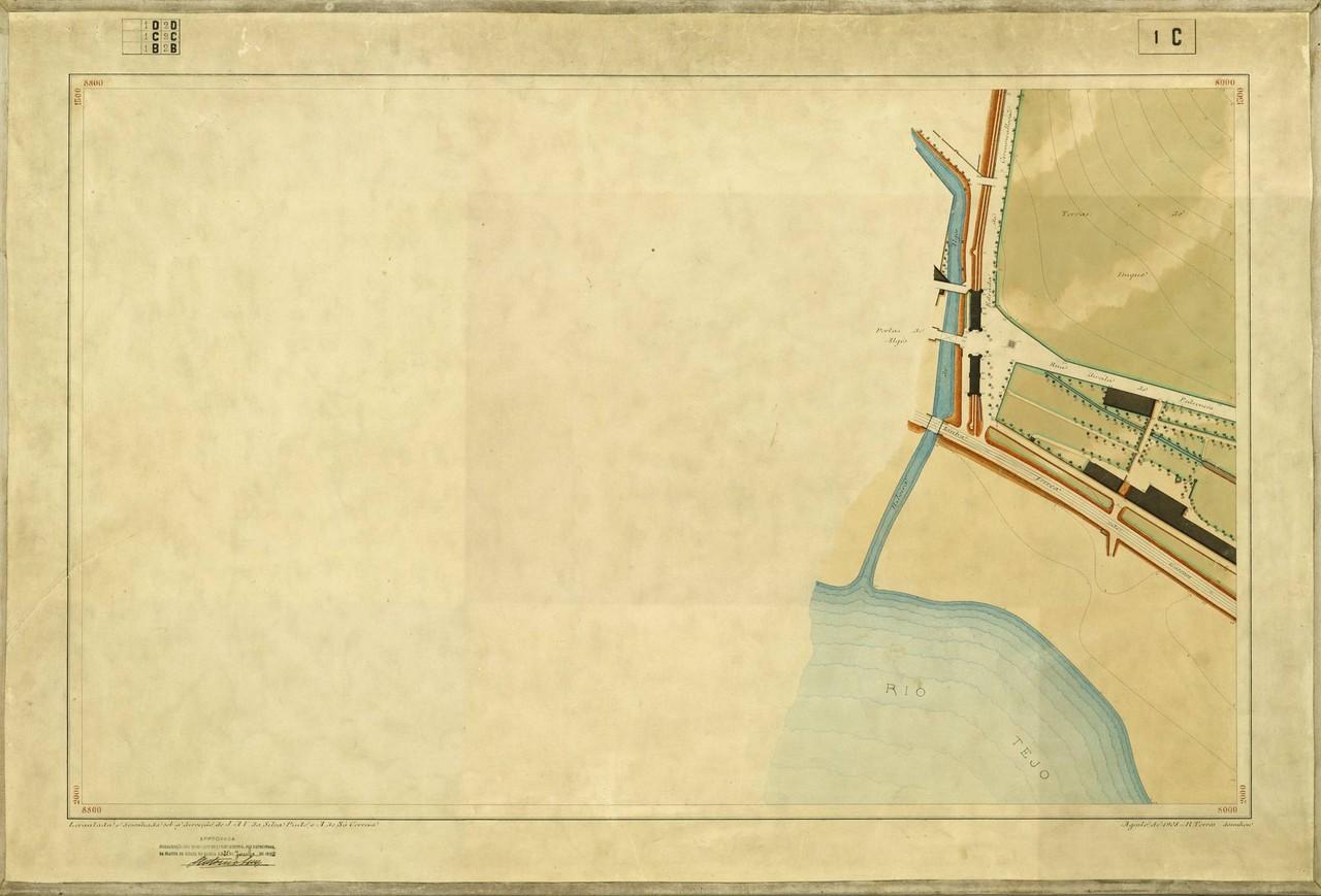 Planta Topográfica de Lisboa 1 C, de 1908, in A.M
