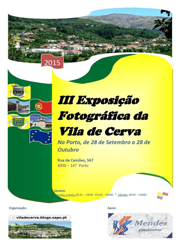 III Exposição Fotográfica de Cerva, no Porto