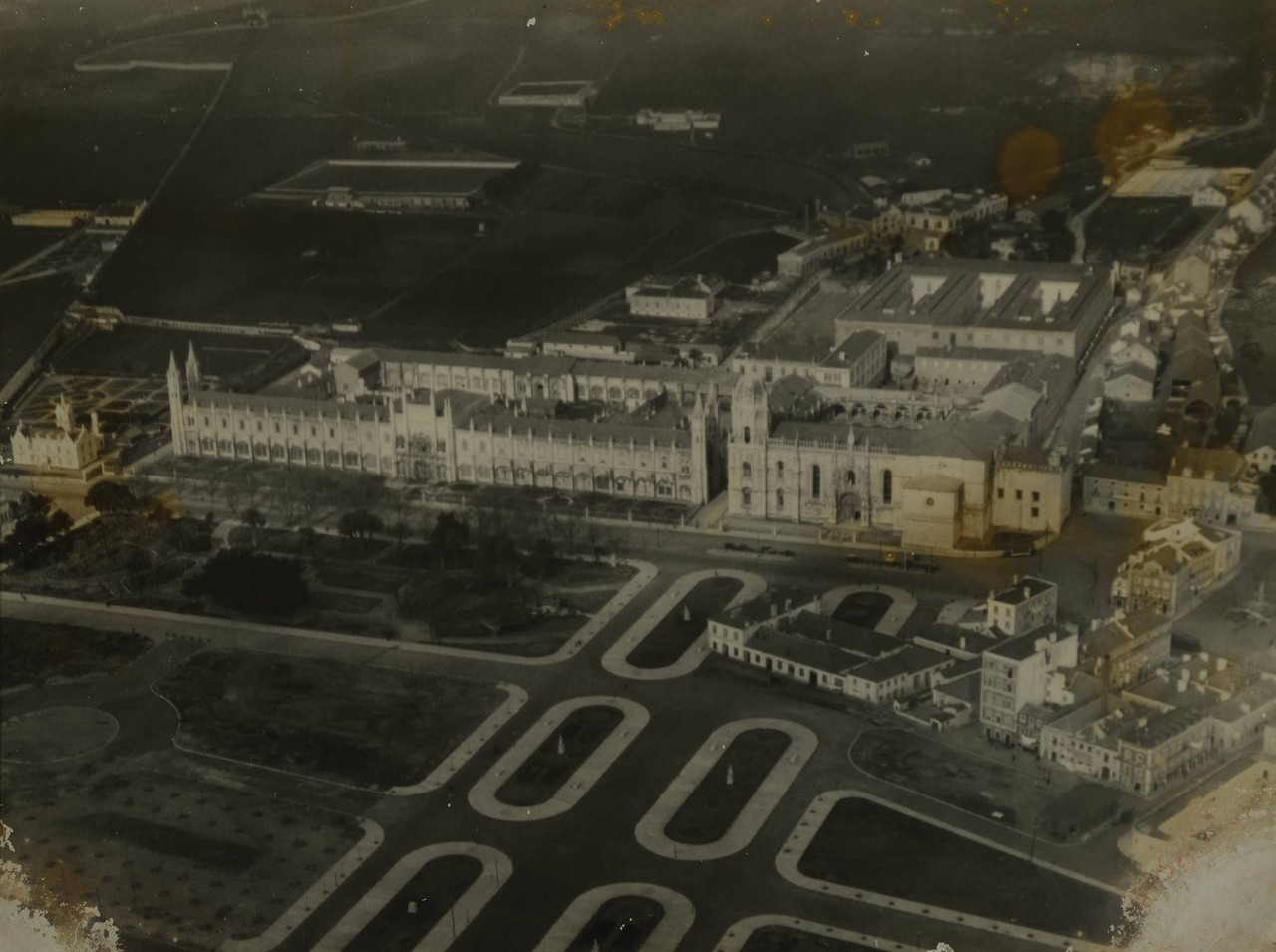Fotografia aérea sobre o Mosterio dos Jerónimos