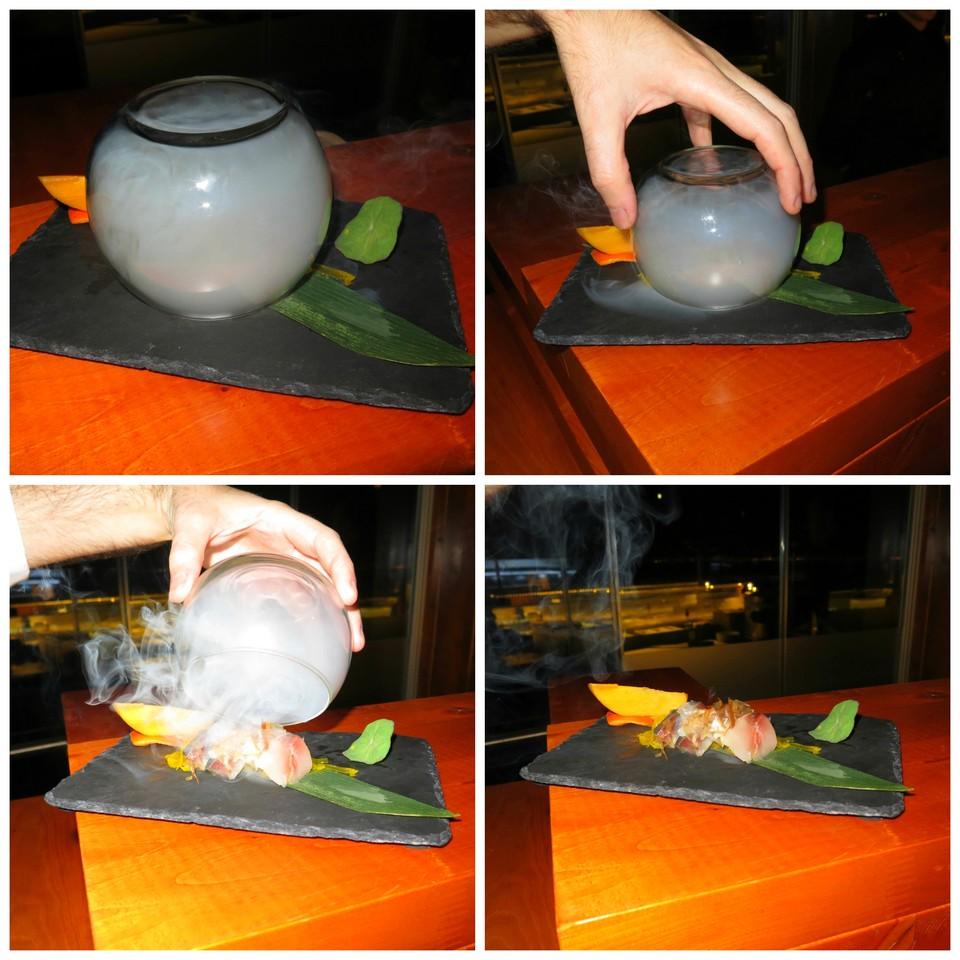 O efeito do prato quando chega à mesa