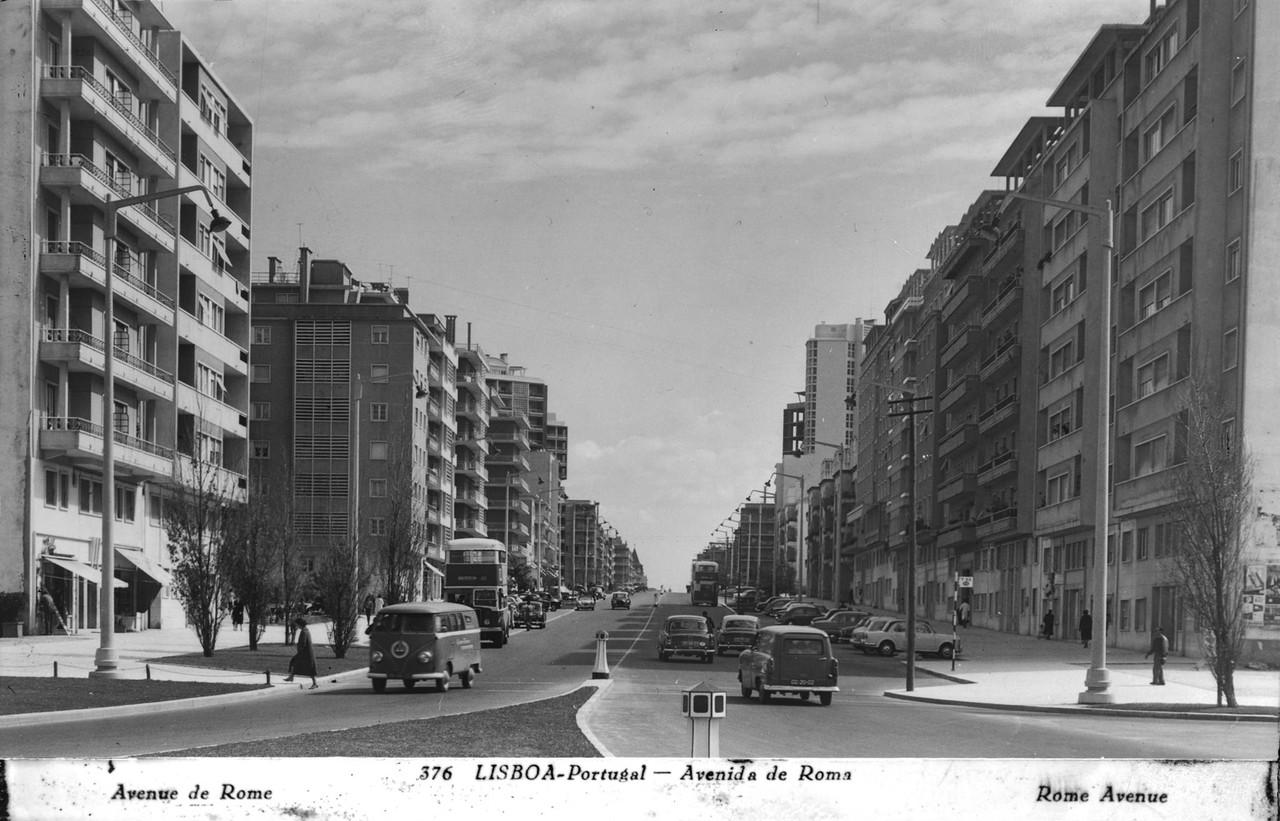 Av. de Roma, Lisboa (A. Passaporte, c. 1953)