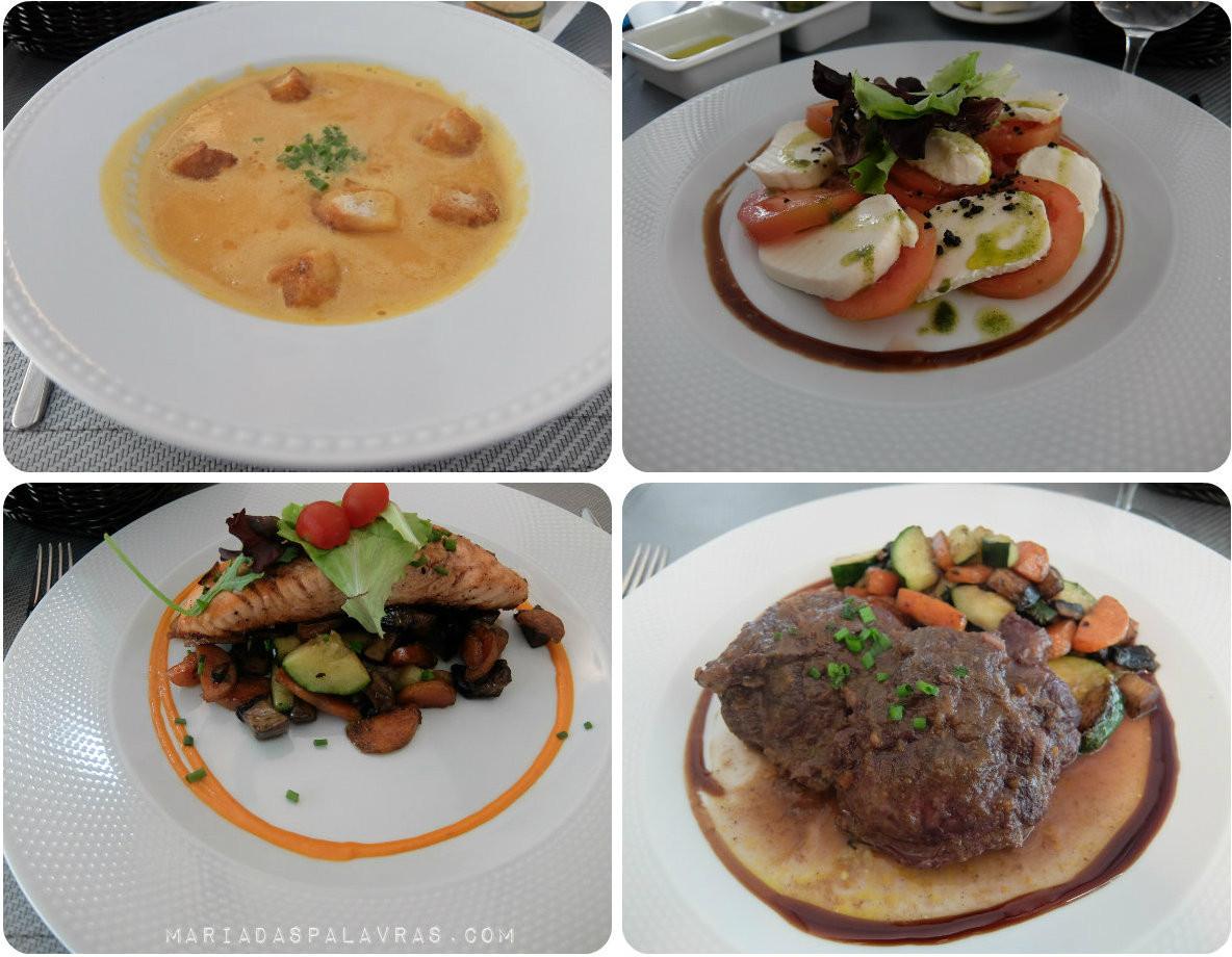Pratos no Restaurante Elevador do Hotel de Santa Justa | Maria das Palavras via Odisseias