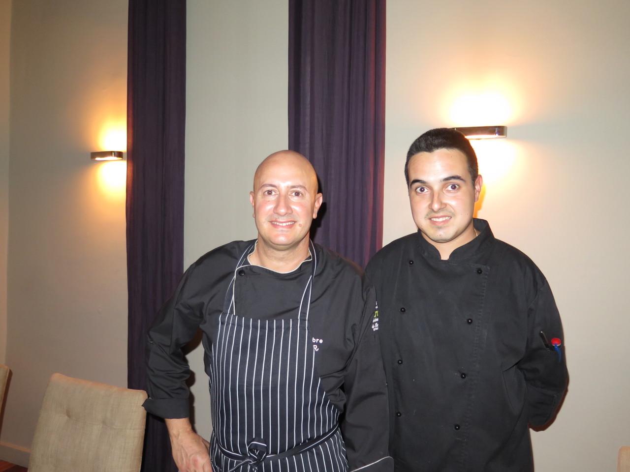 António Nobre e o sub-chef Tiago Moreno