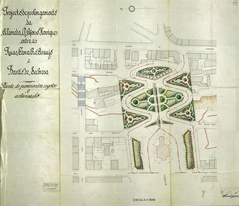 Projecto de prolongamento da alameda D. Afonso Hen