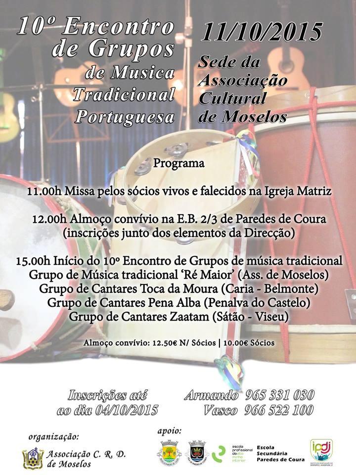 Cartaz 10 Encontro Musica Tradicional Mozelos