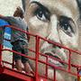 Mural de homenagem a Ronaldo