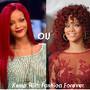 Rihanna - cabelo liso ou encaracolado.dib