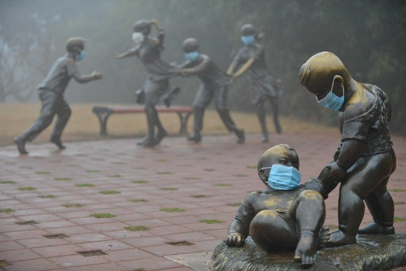 Esculturas com máscaras Puyang, Henan, China