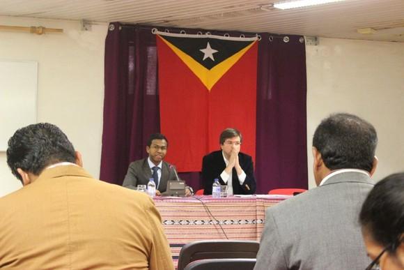 Conferência organizada pelos estudantes timorense