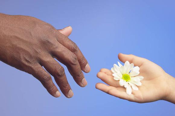Person offering flower 0001.jpg