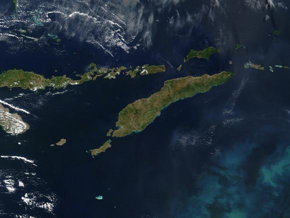 Timor visto do céu