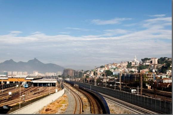 Centro Histórico - A linha de trem, vista de um v
