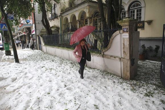 Granizo em Lisboa