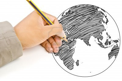 14560492-hand-drawing-world-map-globe-line-on-the-