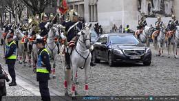 Escolta do Presidente pela cavalaria GNR Coimbra