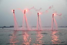 Jet-boards em Yixing, na província Jiangsu, China