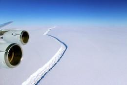 Fissura na plataforma Larsen C, Antártica dará o