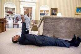 Bebé conhece Obama, EUA