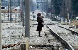 Refugiados fronteira Grécia Gevgelija, Macedónia