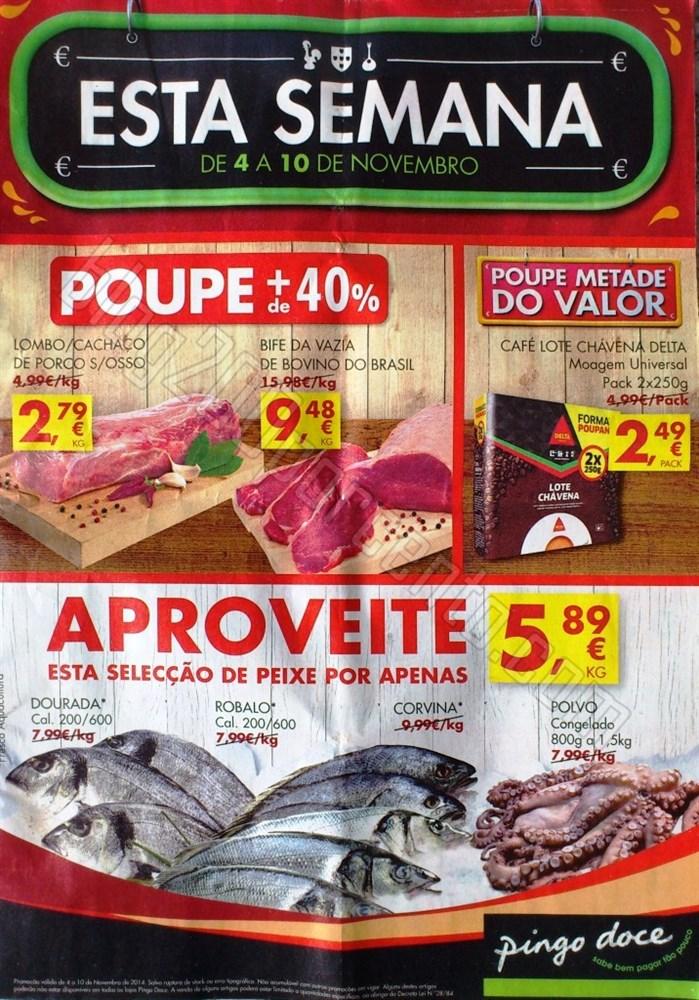 Antevisão Folheto PINGO DOCE de 4 a 10 novembro p