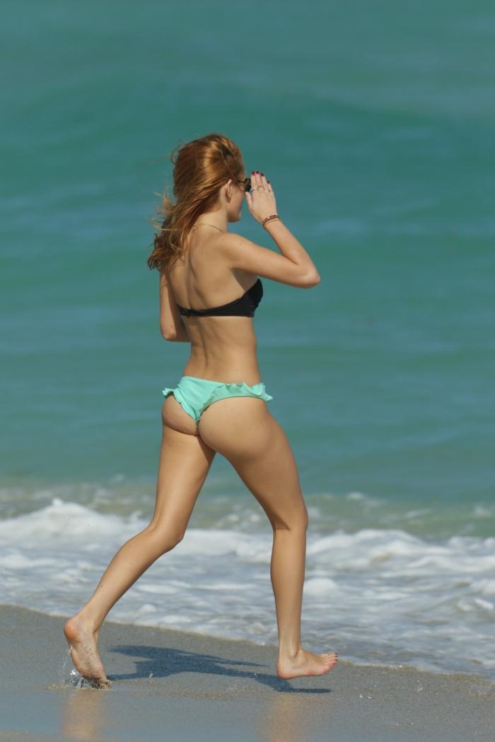 Bella Thorne in a Bikini on Miami Beach 1