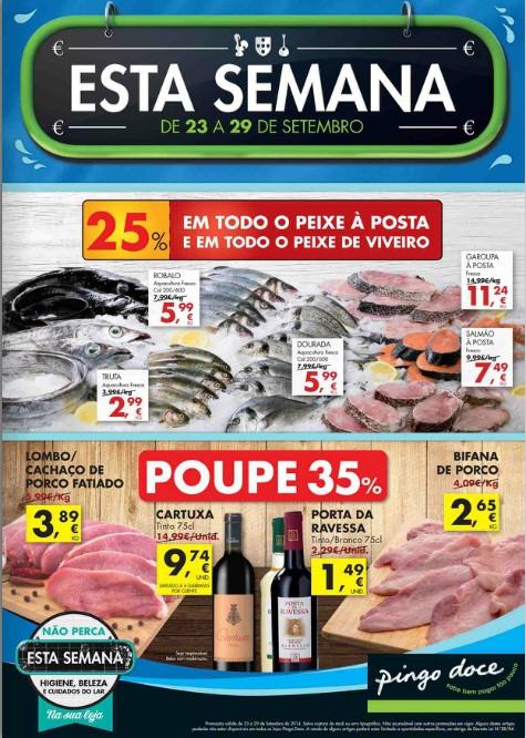 Antevisão Folheto PINGO DOCE de 23 a 29 setembro - online