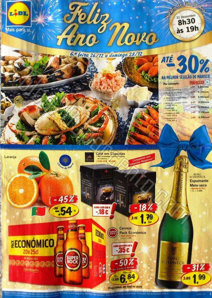 Antevisão Folheto LIDL Feliz Ano Novo de 26 a 31