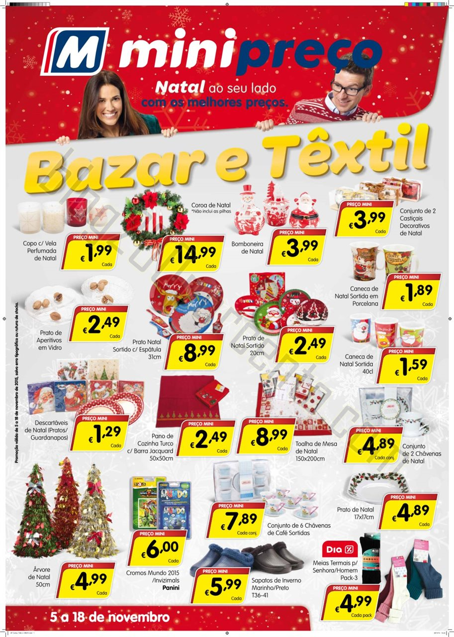 Antevisão folheto MINIPREÇO Bazar promoções de