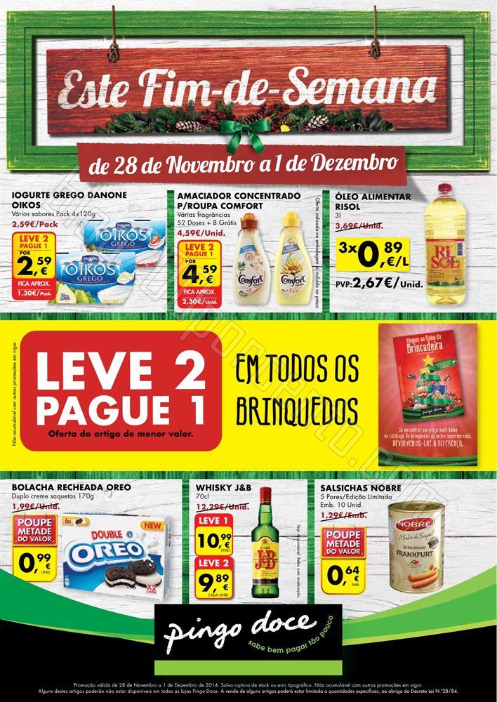 Novo Folheto PINGO DOCE Fim de Semana de 28 novemb