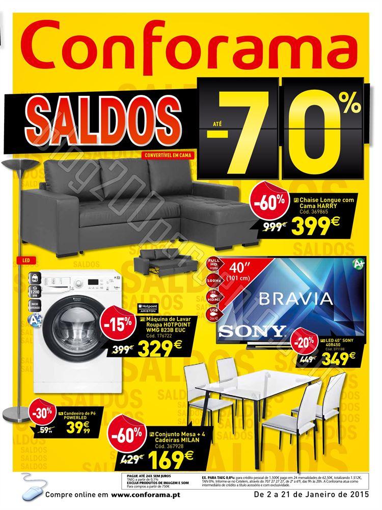 Novo Folheto CONFORAMA Saldos de 2 a 21 janeiro p1