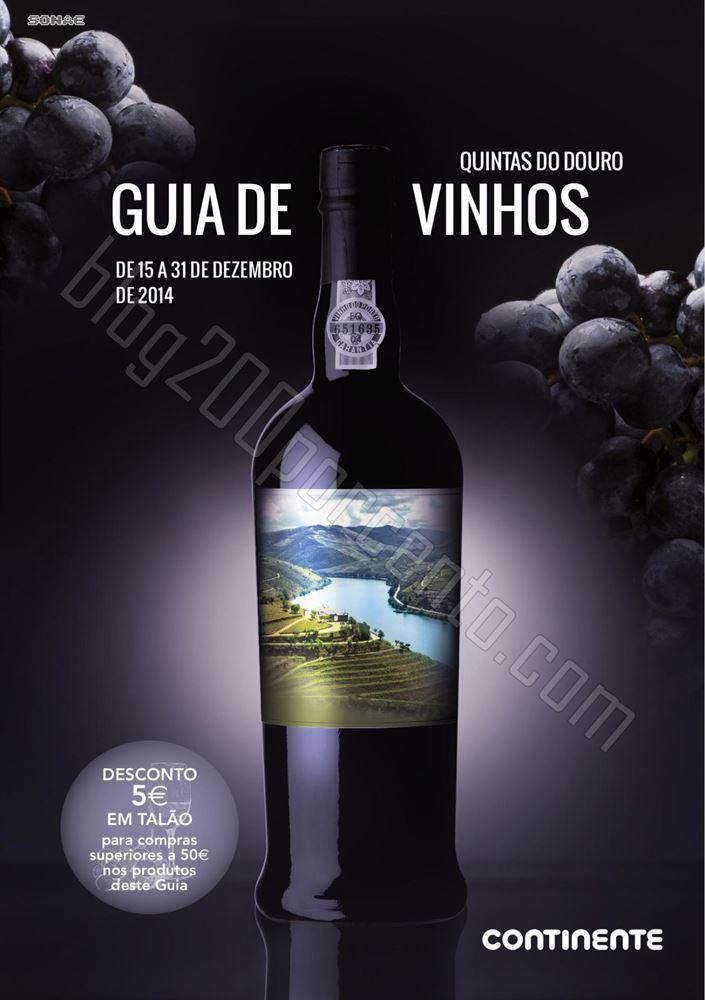 Novo Folheto CONTINENTE guia de vinhos até 31 dez