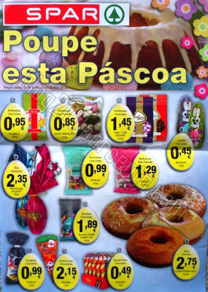 Novo Folheto SPAR Páscoa promoções até 5 abril